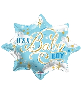 "18"" Shape It's A Baby Boy Shape Balloon"