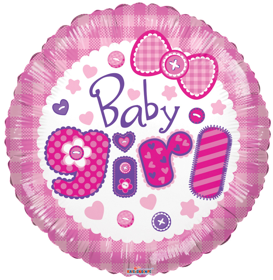 "18"" Baby Girl Quilt Balloon"