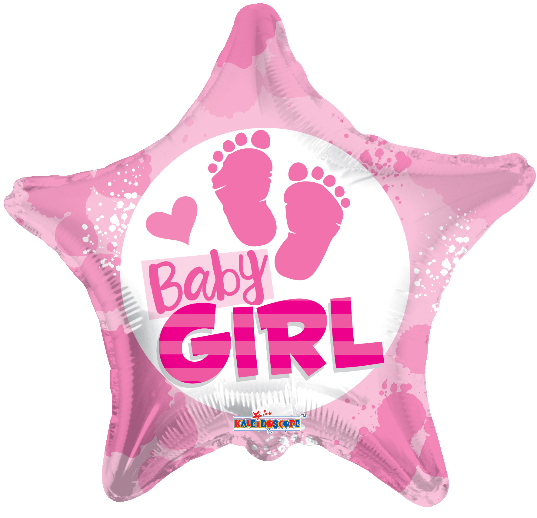 "18"" Baby Girl Footprints Balloon"