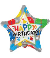 "18"" Birthday Silver Star Balloon"