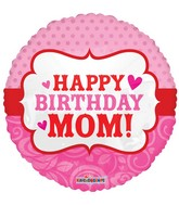 "18"" Happy Birthday Mom Balloon"