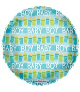 "18"" Baby Bottles Boy Balloon"
