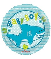 "18"" Baby Boy Little Shark Balloon"