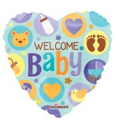"18"" Welcome Baby Heart Balloon"