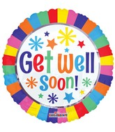 "18"" Get Well Lines Balloon"