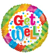 "18"" Get Well Multicolor Balloon"