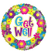 "18"" Get Well Flowers Balloon"