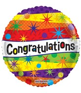 "18"" Congratulations Dots Balloon"