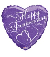 "18"" Anniversary With 2 Hearts Balloon"