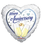 "18"" Anniversay Glasses Balloon"