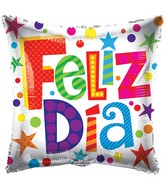 "18"" Feliz Dia Patterns Balloon"