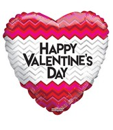 "18"" Happy Valentine&#39s Day Chevron Pattern"