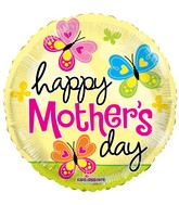 "18"" Happy Mother&#39s Day Butterflies Balloon"