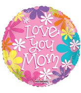 "18"" Love You Mom Pink Balloon"