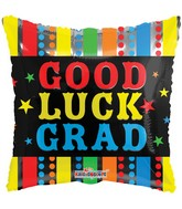 "18"" Good Luck Grad Balloon"