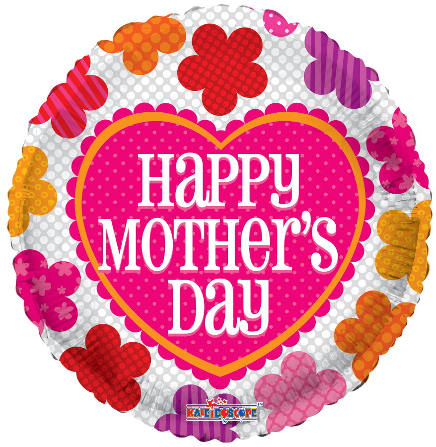 "18"" Mother's Day Patterned Flowers Balloon"
