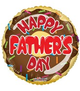 "18"" Happy Father&#39s Day Donut Balloon"