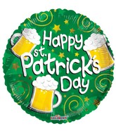 "18"" Happy St. Patrick's Beers Balloon"