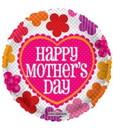 "18"" Mother&#39s Day Patterned Flowers Balloon"