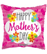 "36"" Mother&#39s Day Square With Flowers Balloon"