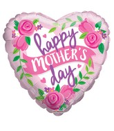 "9"" Airfill Only Happy Mother's Day Roses & Banner Balloon"