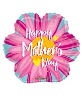 "4"" Airfill Only Happy Mother's Day Pink Flower Balloon"