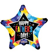 "9"" Airfill Only Father&#39s Day Shinny Stars Balloon"