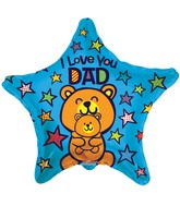 "9"" Airfill Only Love You Dad Bears Balloon"