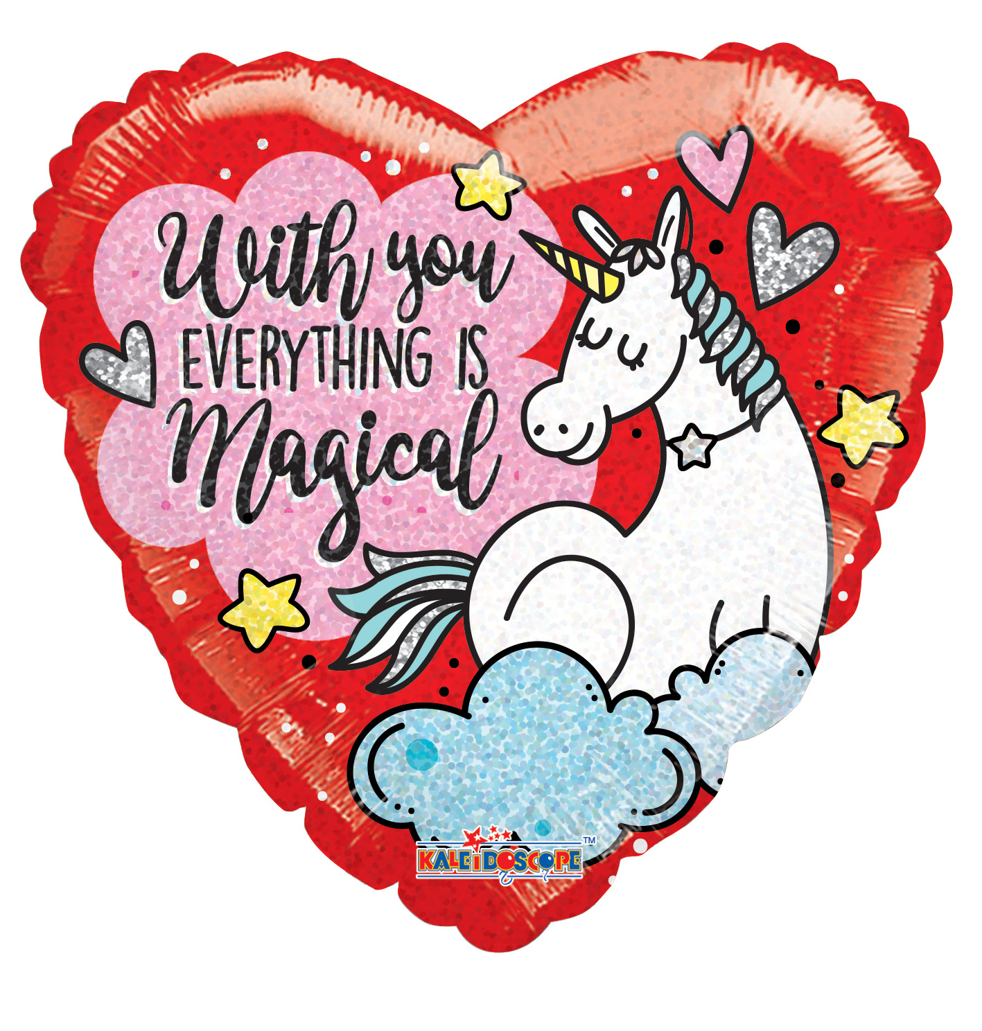 "18"" Unicorn Love Holographic Balloon"