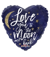 "18"" Love You To The Moon Holographic Balloon"
