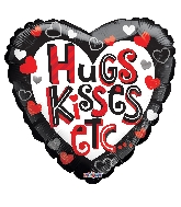 "18"" Hugs & Kisses Etc Balloon"