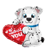 "20"" Love You Dalmatian Shape Balloon"