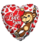 "18"" I Love You Gorilla Balloon"
