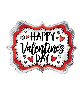 "18"" Happy Valentine&#39s Day Marquee Shape Balloon"