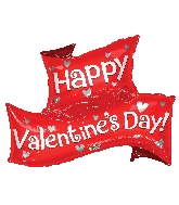 "36"" Happy Valentine&#39s Day Banner Shape Balloon"