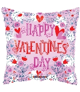 "18"" Happy Valentine&#39s Day Lined Balloon"