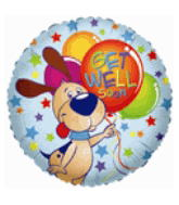 "18"" Get Well Soon Dog Balloon"