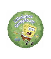 "9"" Airfilll Only Cuantos Cumples Sponge Bob"