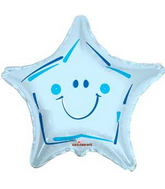 "36"" Smiley Star Blue Balloon"