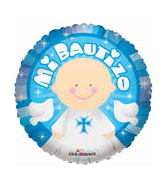 "4"" Airfill Only Mi Bautizo Angel Azul"