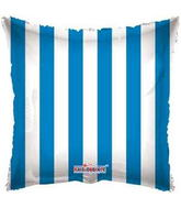"18"" Square Balloon Blue Striped Balloon"