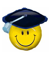 "28"" Simley Graduation Shape Balloon"