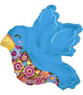 "14"" Airfill Blue Bird Balloon"