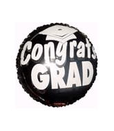 "18"" Congrats Grad Balloon Black"