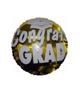 "18"" Congrats Grad Balloon Gold"