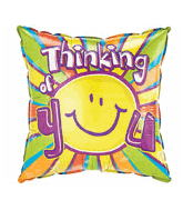 "18"" Thinking Of You Square Balloon Stripes"