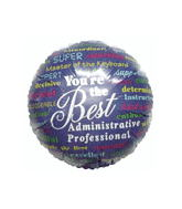 "18"" Words Of Appreciation Administrative Balloon"