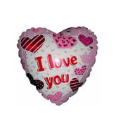 "32"" I Love You Pillow Hearts"