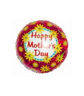 "18"" Happy Mother&#39s Day Sunflowers Mylar Balloon"