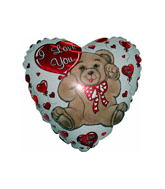 "9"" Airfill I Love You Bear With Heart Balloon"